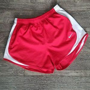 Nike tempo running shorts red size medium dri fit